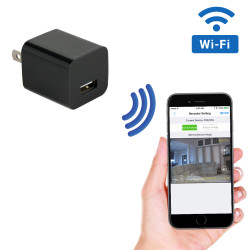 WiFi Streaming USB Wall Charger Hidden Camera