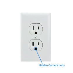 AC Outlet Hidden Camera Lens