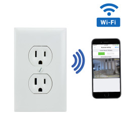 1080P HD WiFi Streaming AC Electrical Outlet Receptacle Hidden Camera