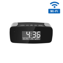 1080P HD WiFi Streaming Mini Alarm Hidden Clock Camera with Night Vision