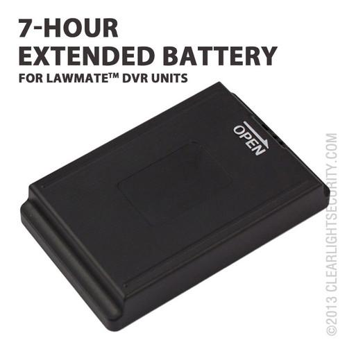 LawMate 7 Hour Portable DVR Battery