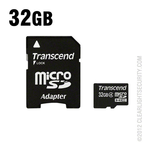 32GB Micro SD Card with SD Card Adapter