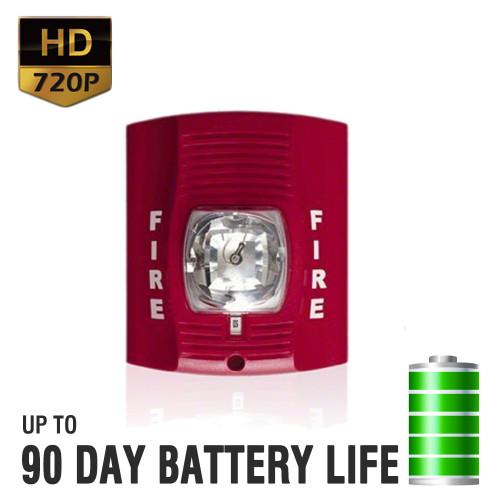 720P HD Fire Alarm Hidden Camera