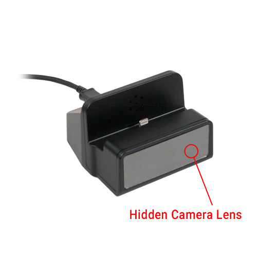 1080P HD Motion Activated Smartphone Charger Dock Hidden Camera