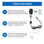 Professional Grade Smartphone Charging Cable Voice and Audio Recorder
