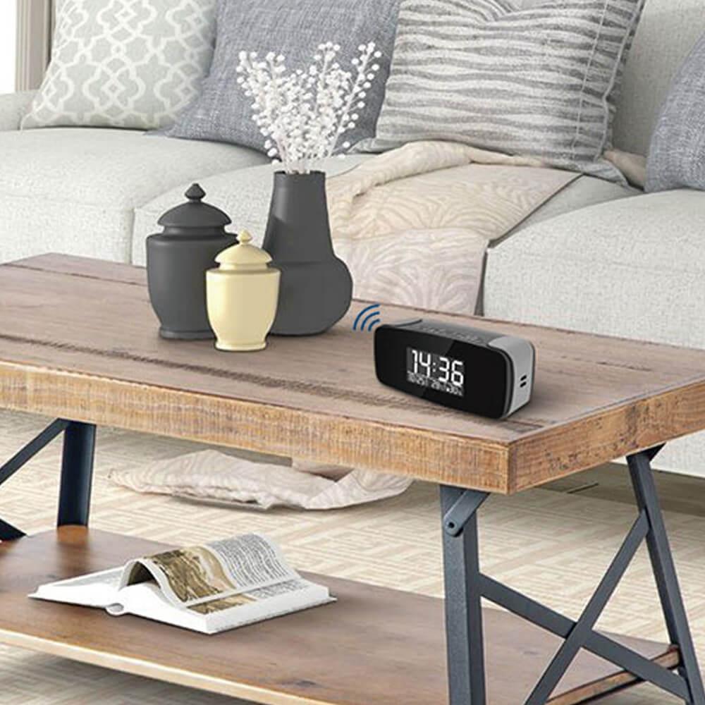 WiFi Streaming Alarm Clock Hidden Camera