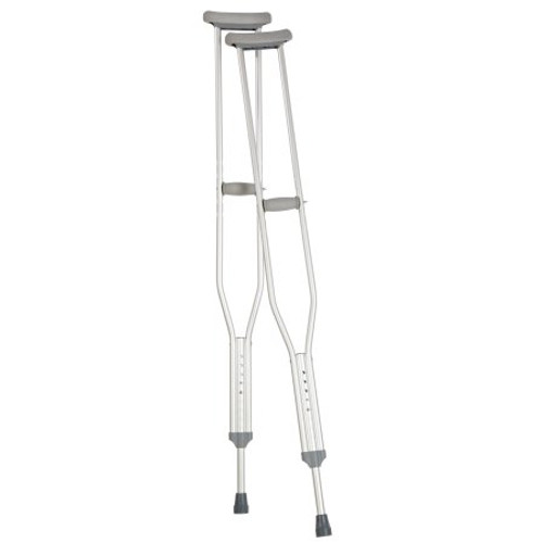 Carex Tall Push Button Aluminum Crutches, 1 Pair