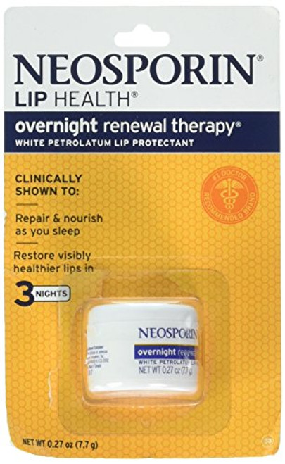 Neosporin Lip Health Overnight Renewal Therapy 0.27 Oz / 7.7 G