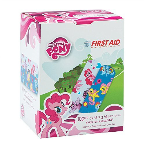 "Derma Sciences - My Little Pony Adhesive Bandage, 3/4"" X 3"", 100/Bx"