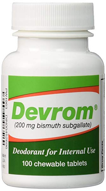 Devrom Internal Deodorant Chewable Tablets 100 Count