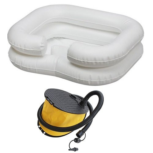 Comfort Aid Inflatable Shampoo Basin with Bellows Foot Pump