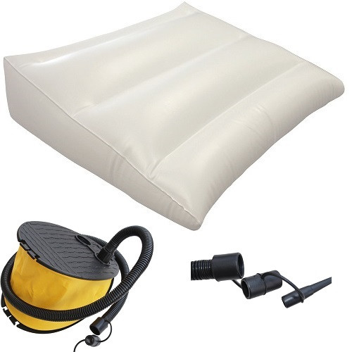 Inflatable Bed Wedge Pillow with Cover and Foot Pump