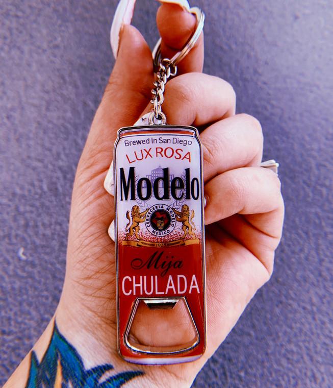 Modelo Chulada Bottle Opener Keychain