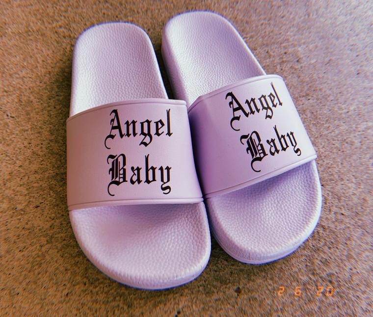 Limited Edition Angel Baby Slides (light lavender)