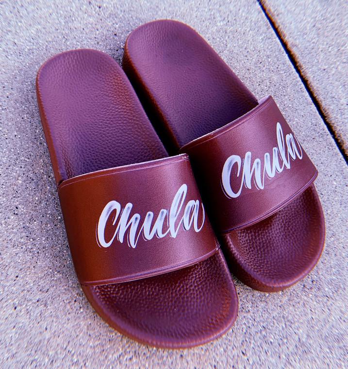 Limited Edition Chula Airbrushed Slides (lburgundy)