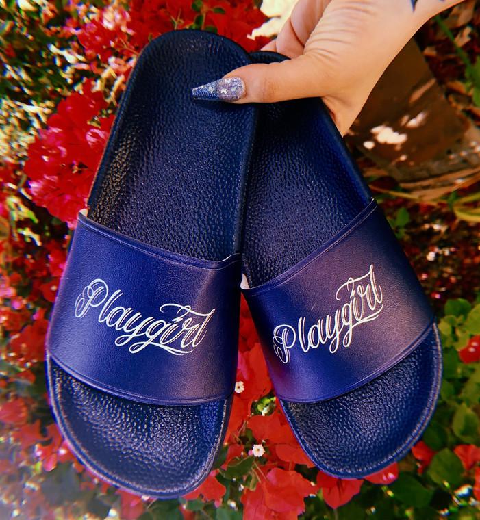 Playgirl Slides (NAVY) PREORDER