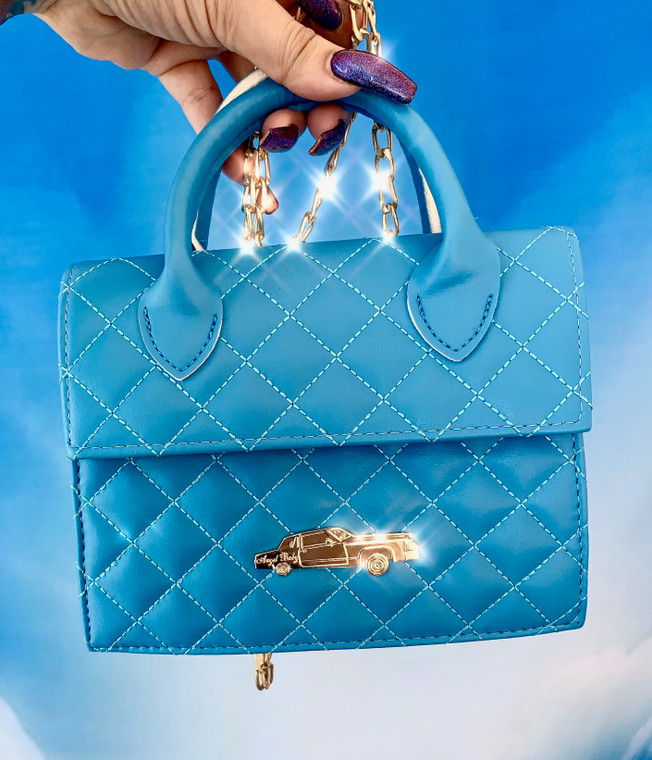 Limited Edition Angel Baby Low Low Quilted Cross Body Handbag Cobalt Blue PRE-ORDER