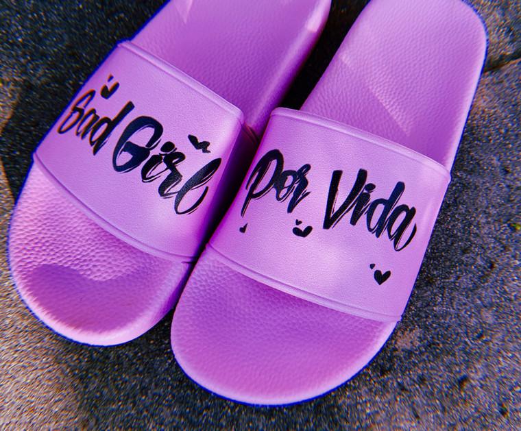 Sad Girl For Vida Airbrushed Slides (Pink) PREORDER