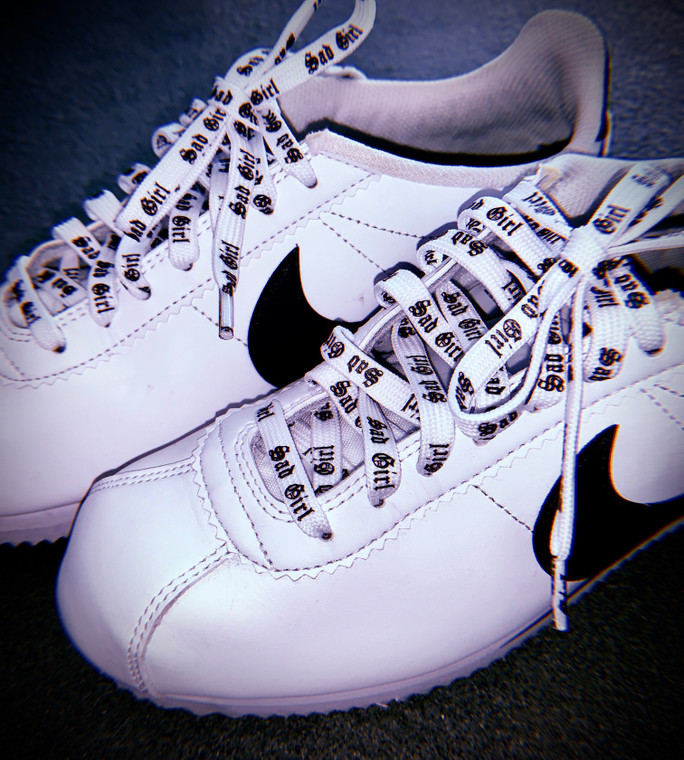 Sad Girl White Shoelaces