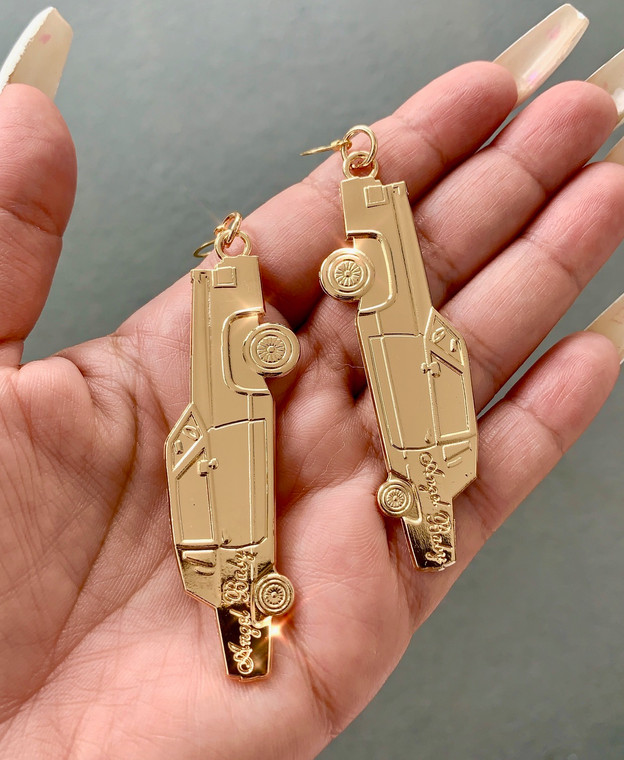 Angel Baby Low Low 18K Gold Plated Earrings