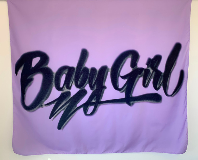 Babygirl Airbrushed Tapestry (Purple) PREORDER