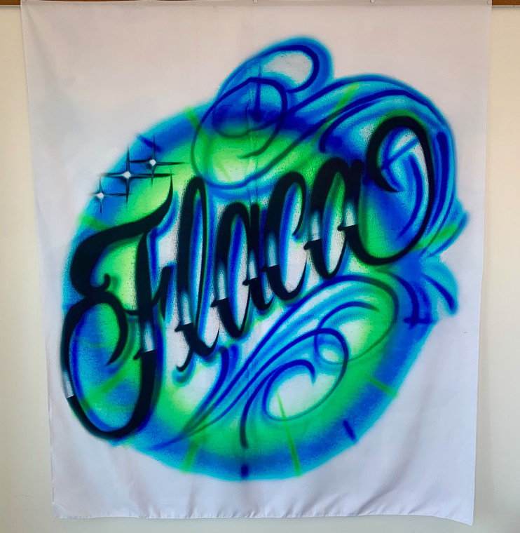 Flaca Airbrushed Tapestry (Blue/Green) PREORDER