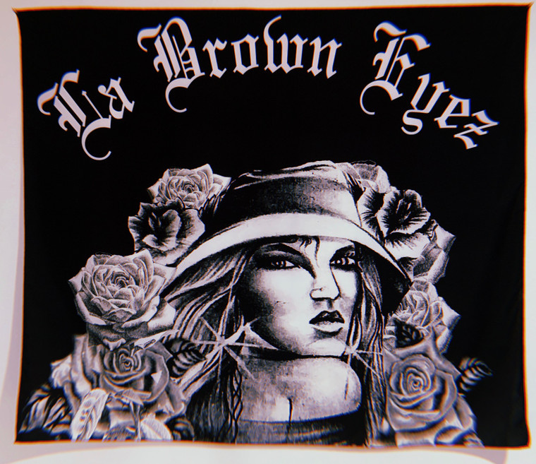 La Brown Eyez Pen Pal Edition Wall Tapestry (Black) PREORDER!