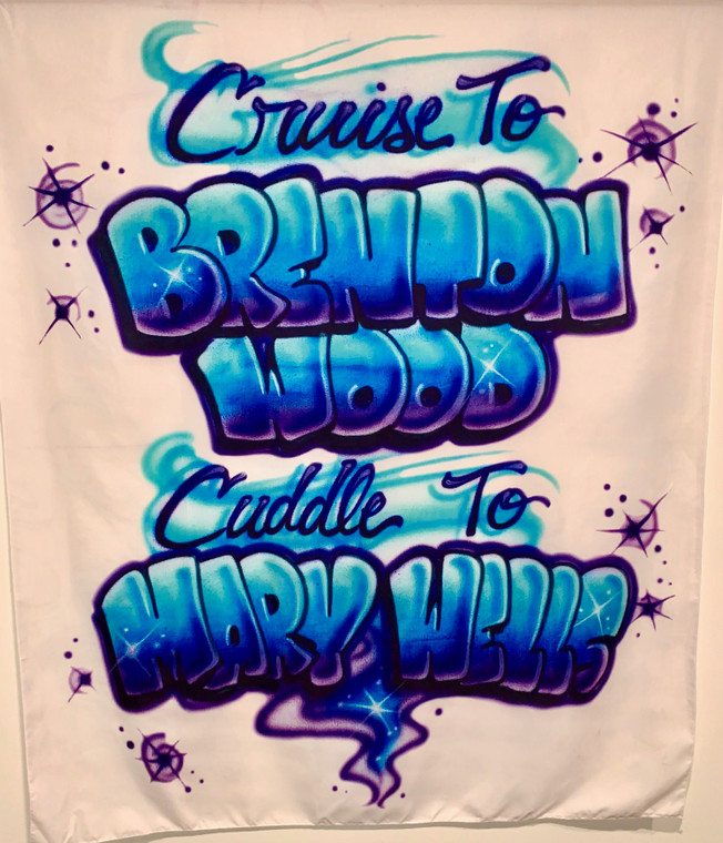 Cruise To Brenton Wood... Airbrush Tapestry  (Purple/Blue/White) PREORDER
