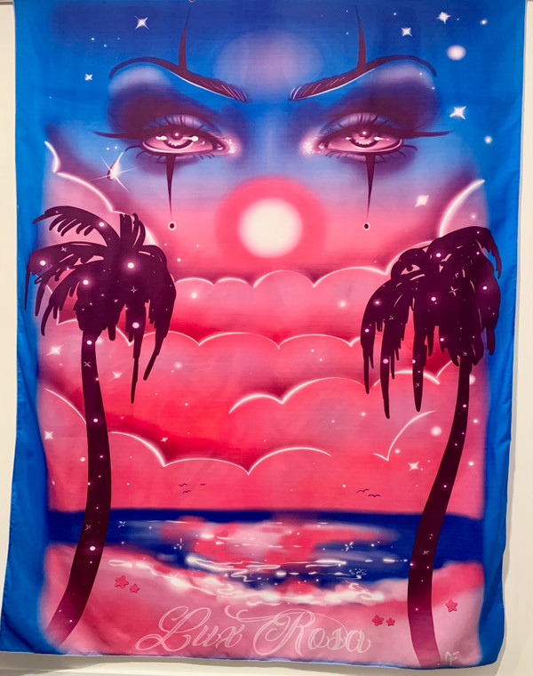 Glamour Shots 'Eyes Never Lie'  Airbrushed Tapestry (DEEP BLUE) (X-Large)