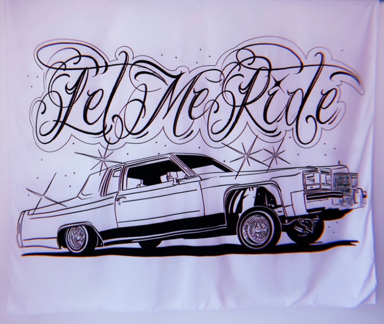 Let Me Ride Wall Tapestry (White)