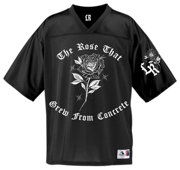 LR 'THE ROSE THAT GREW' Mesh Football Jersey (BLACK) PREORDER