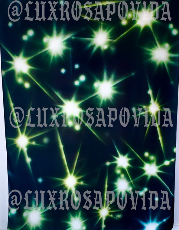 LIMITED EDITION Glamour Shotz  Airbrushed 'Boogie Nights' Backdrop (Black/Yellow/Green) (Extra Large)