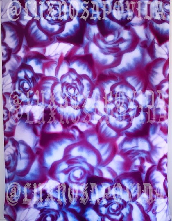 Rosas Indiga Airbrushed Glamour Shotz Backdrop (PURPLES/BLUES) (Extra Large)