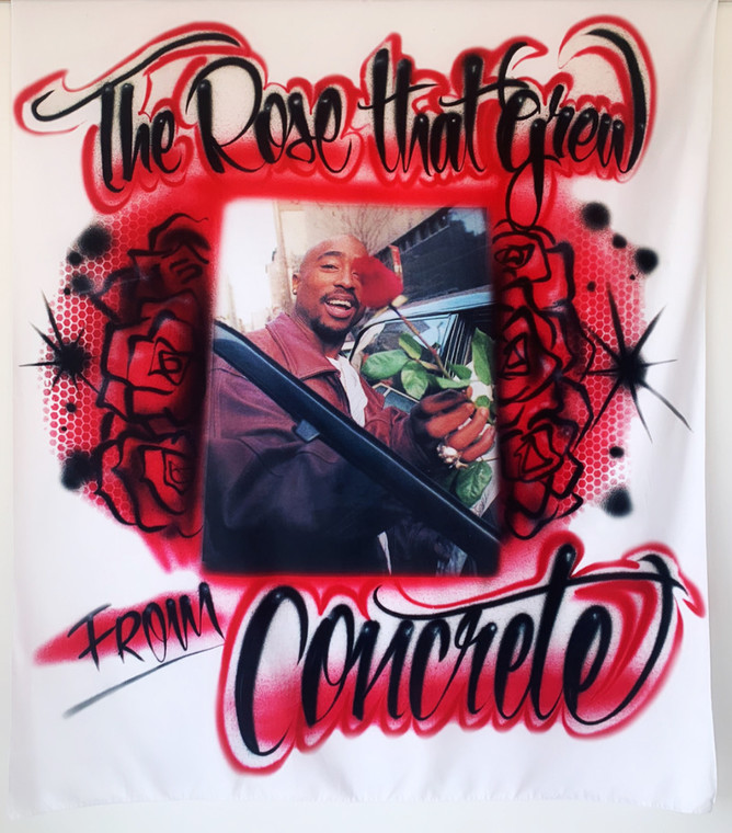 Airbrushed Pac 'Rose That Grew' Tapestry