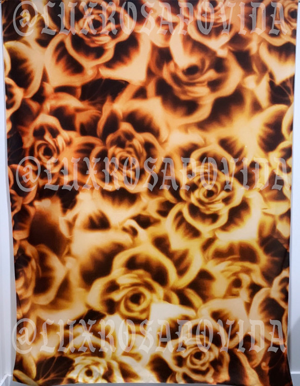 Glamour Shots 'ROSAS MARRONES' Airbrushed Tapestry (brown/gold) (Extra Large)