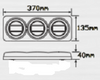 Maxilamp Rose Housing 3M Stick On Line Drawing. Stop, Tail and Indicator with Reflector