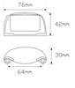 Line Drawing - 35CLM - Licence Plate Lamp Multi-Volt 12v & 24v Chrome Housing Single Pack. AL. Ultimate LED.