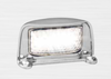 35CLM - Licence Plate Lamp Multi-Volt 12v & 24v Chrome Housing Single Pack. AL. Ultimate LED.