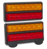 207BARLP2 - Stop, Tail, Indicator & Licence Plate Lamp 12v Twin Pack. Autolamps. Ultimate LED.