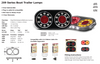 Data Sheet - 209GARLP2 - Stop Tail Indicator with Reflector and Licence Plate Light. 12v Twin Pack. AL. Ultimate LED.