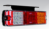 BR230ARW Compact Rear LED Tail Light Assembly. Stop, Tail, Indicator, Reverse, Red Reflector and Mounting Brackets. ADR Approved. Ultimate LED