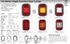 Data Sheet - 133AMG - Indicator Light with Reflector Rectangle. Multi-Volt 12v & 24v Blister Single Pack. LED Auto Lamps. Ultimate LED.