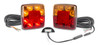 98BARLP2/5 - Stop Tail Indicator light with Reflector and Licence Plate Light, 5m cable Kit.  12v Twin pack. AL. Ultimate LED.