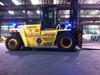Installed Blue Safety Lights for Bluescope Steel on the larger forklifts.