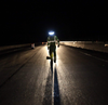 Night Road Work - be seen and be safe