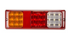Low Profile  LED Combination Tail Light LED. Multi-Volt, 12 & 24 Volt DC Systems. New Stylish & Bright Slimline Stop, Tail, Indicator & Reverse LED Light with Reflector BR310ARW. Roadvision Product. Amazing Light for its size. 5 Year Warranty
