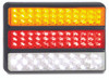 200BARWM - Stop Tail Indicator Reverse Multi-Volt 12v & 24v, triple bar light. Single Pack. AL. Ultimate LED.