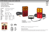 Data Sheet - H155BARLP2/6 - Small Trailer Combination Tail Lights. Stop, Tail, Indicator Light, with Reflector and Licence Plate Light. 12v Blister Twin Pack 6M Trailer Kit. LED Auto Lamps. Ultimate LED.