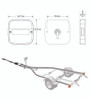 Line Drawing - 99ARLM10 - Marine Lamp. Rear Combination Lights. 10 Metre Trailer Kit. Stop, Tail, Indicator with Licence Plate Light and Reflector. Twin Pack. Autolamps. Ultimate LED.