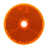 66A - Round Amber Reflex Reflector. Low Profile Design. Screw Mount. Premium Quality. ECE Approved. Autolamp. Ultimate LED.